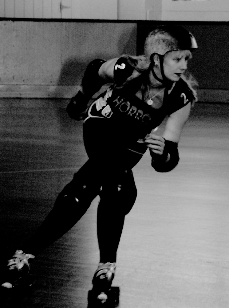 Pinky Swears Roller Derby Skater Action Shot