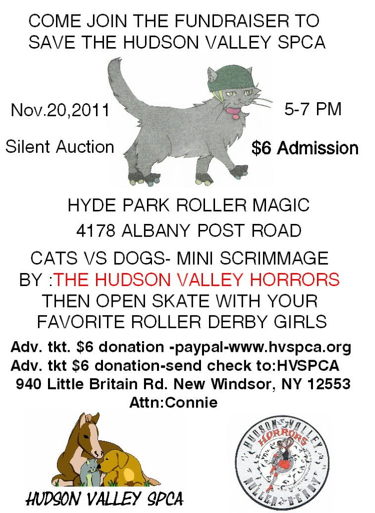 Hudson Valley SPCA charity event flyer 11-11