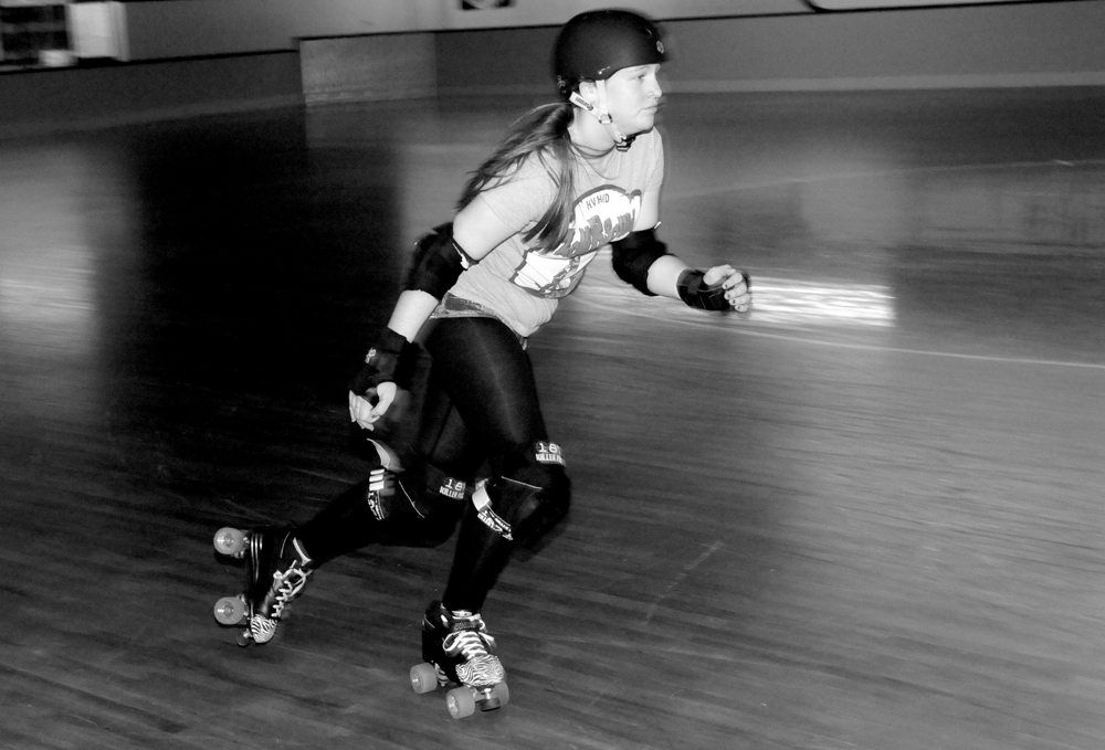 Roller Derby Skater Action Shot Dodge Chargeher