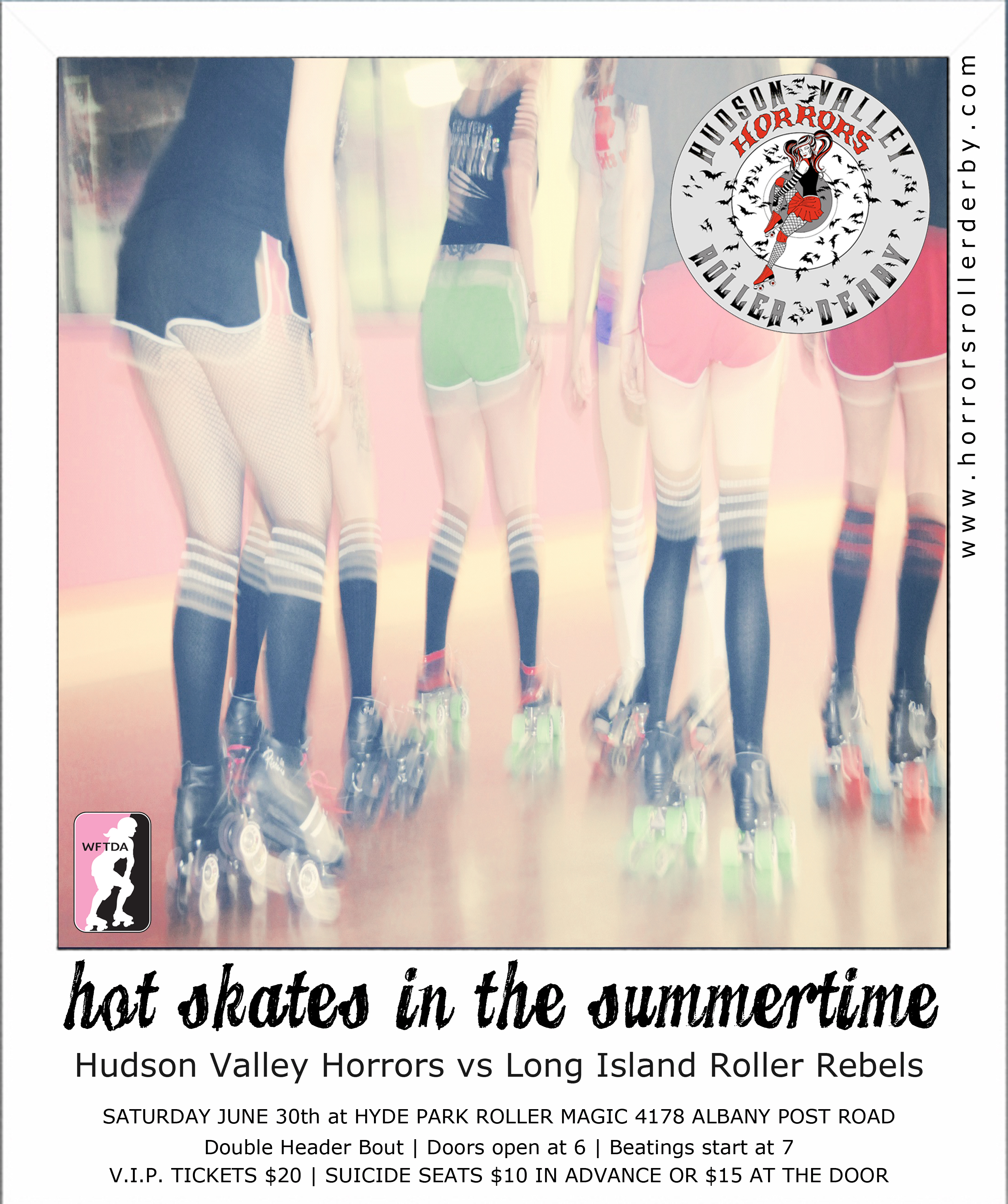 Hot Skates in the Summertime Bout Flyer