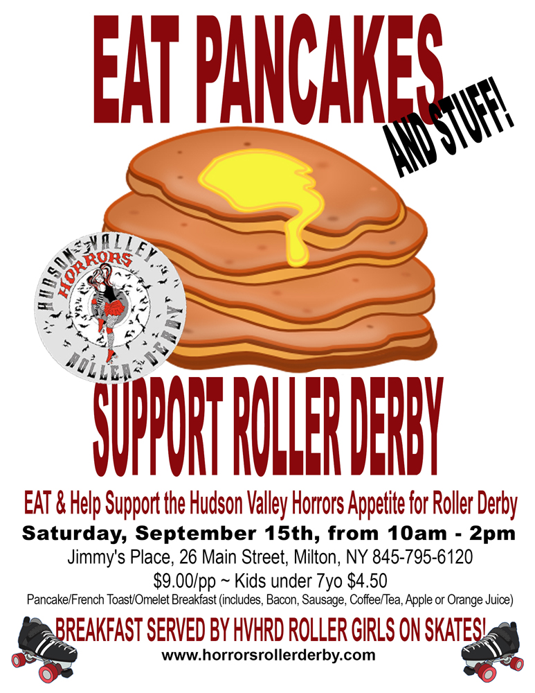 eat pancakes fundraiser at jimmys place 9 15 2012 flyer