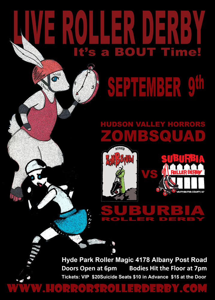 It's About Time Roller Derby Flyer