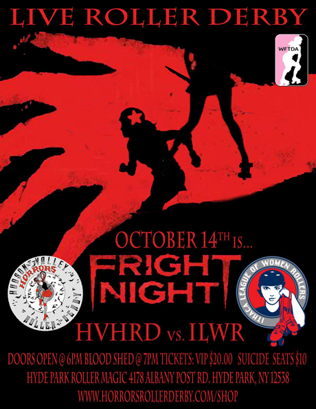 Flyer for Fright Night Roller Derby Event