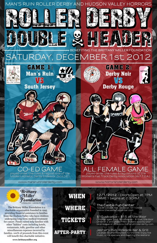 Roller Derby Whips Cancer Charity Bout Flyer