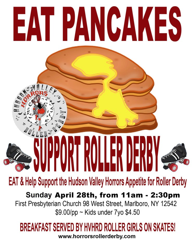 Hudson Valley Horrors Roller Derby Pancake Breakfast 2013