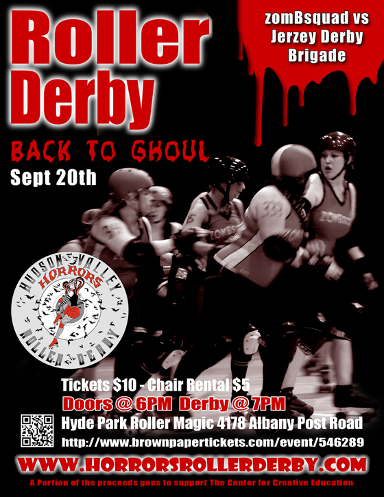 A flyer for the HVHRD Back to Ghoul Bout September 20, 2014