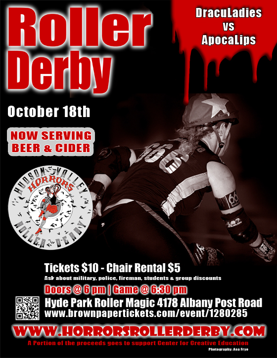 DracuLadies vs ApocaLips October 18th, 2015 bout flyer