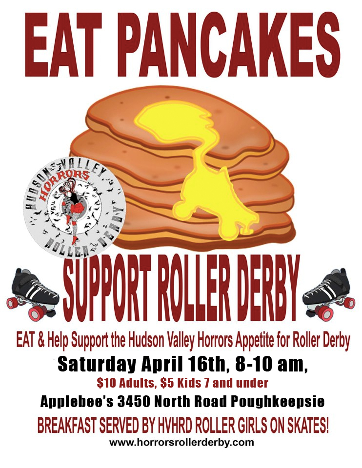Flyer for Hudson Valley Horrors Pancake Breakfast Fundraiser